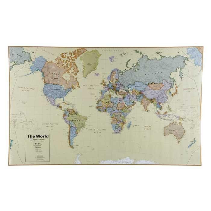 world boardroom laminated wall map framed maps wall on laminated wall maps id=75535