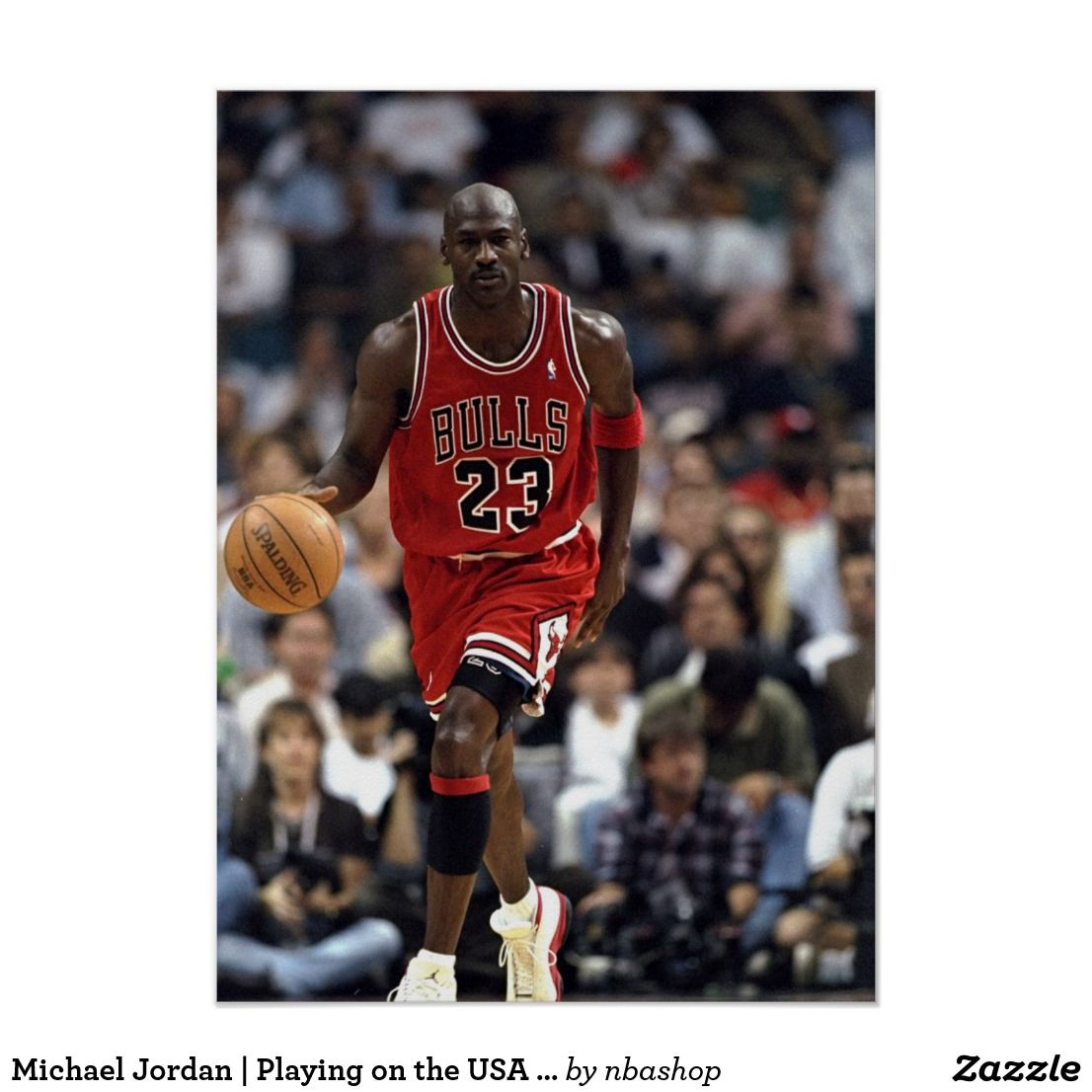 Michael Jordan Playing on the USA Team Print Zazzle