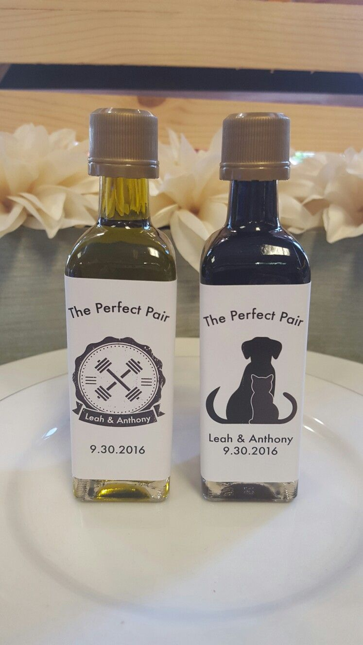 The Perfect Pair Oil And Vinegar Custom Wedding Favors Favors