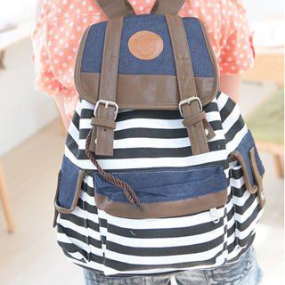 32 canvas striped backpack backpacks pinterest striped