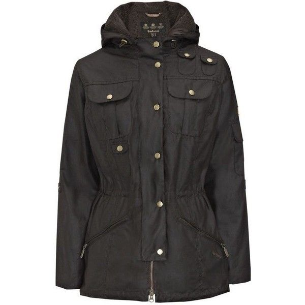 6307a8baed Womens Barbour Winter Force Waxed Parka Jacket - Rustic (1