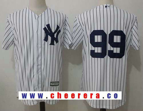 38a491f6 Men's New York Yankees #99 Aaron Judge No Name White Home Stitched ...