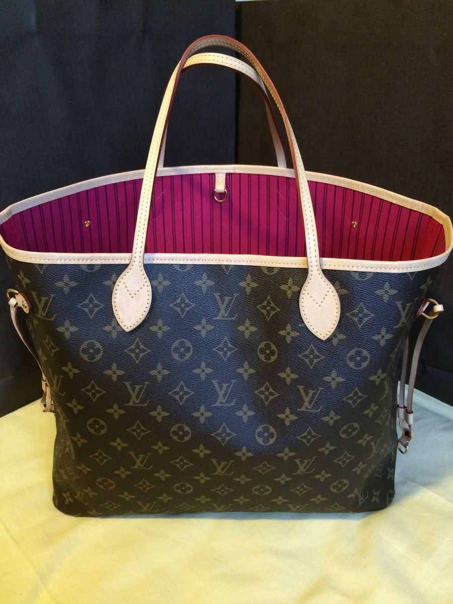 50c357a2a1f9 HARDLY WORN AUTHENTIC LV Neverfull GM Pivoine Shoulder Bag - The Luxe  Boutique