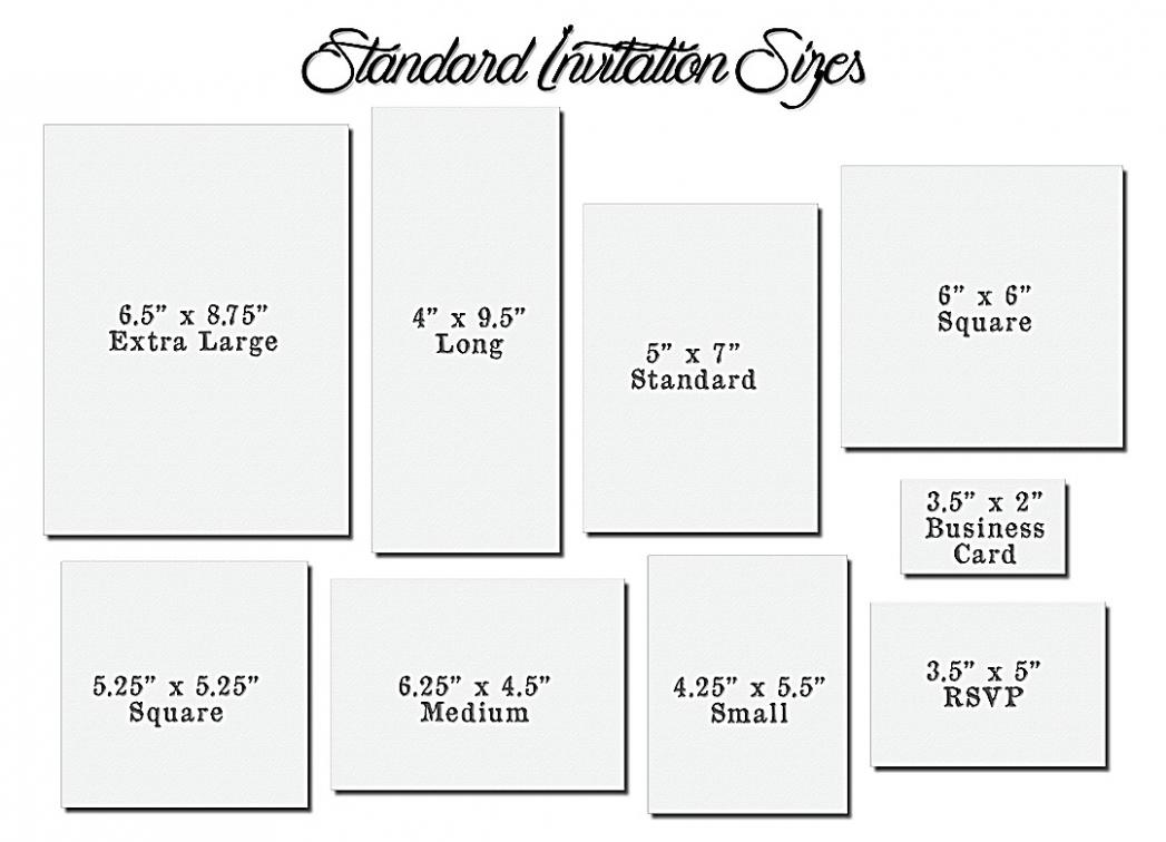 5 Brilliant Ways To Advertise Standard Wedding Invitation Size