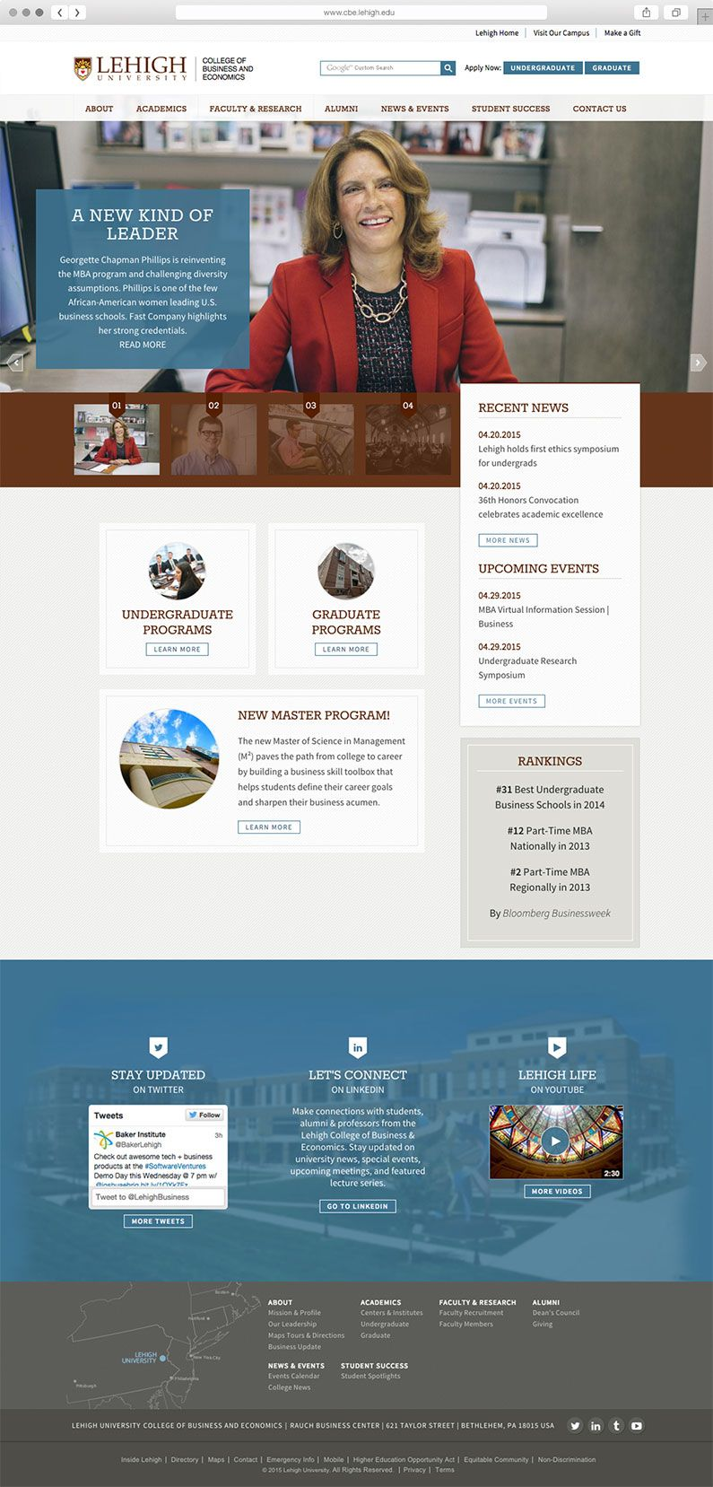 Responsive Web Design For Lehigh University University Marketing Lehigh University Lehigh