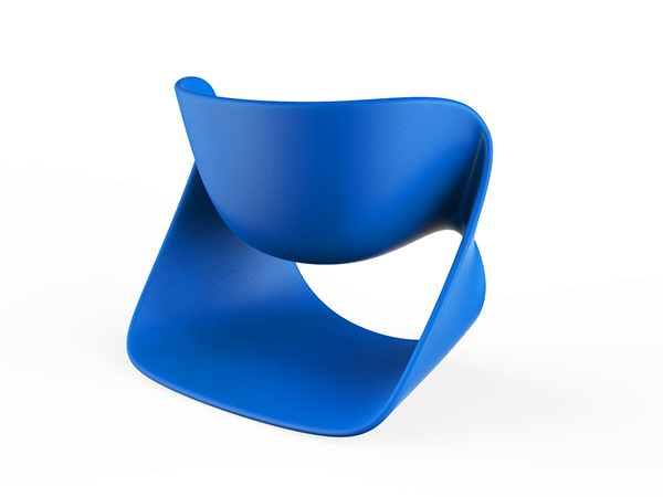 Chair is formed by ribbon structure with different surfacing approach, exploring potential of ribbon structure and furniture