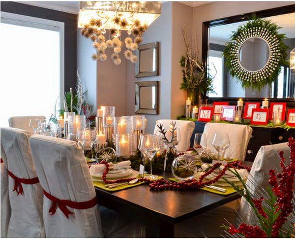 Modern Christmas Table Decorations Christmas Dining Room Decor