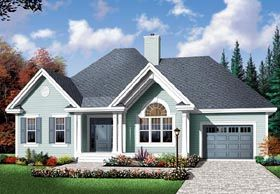 Bungalow Country House Plan 64894 Elevation