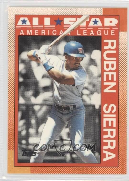Baseball Cards Worth Money 1990 Topps Tiffany 390 Ruben Sierra As