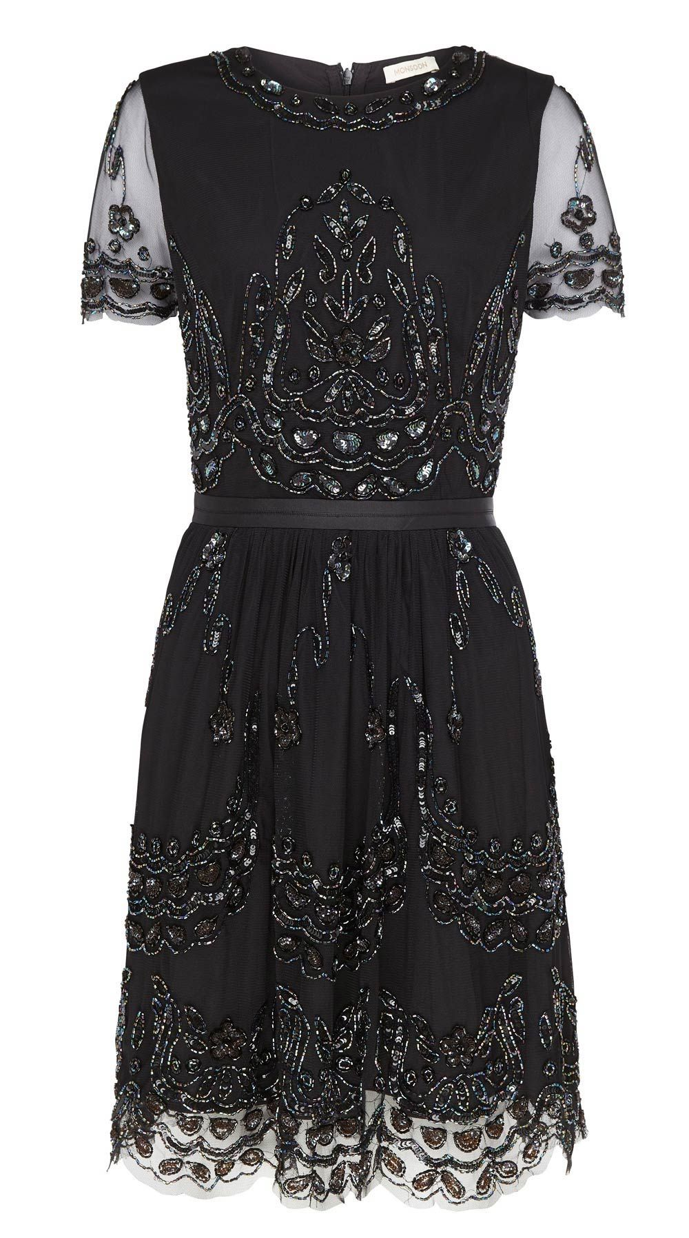 Black bridesmaid dresses for every style of wedding black embellished black bridesmaid dress from monsoon ombrellifo Choice Image