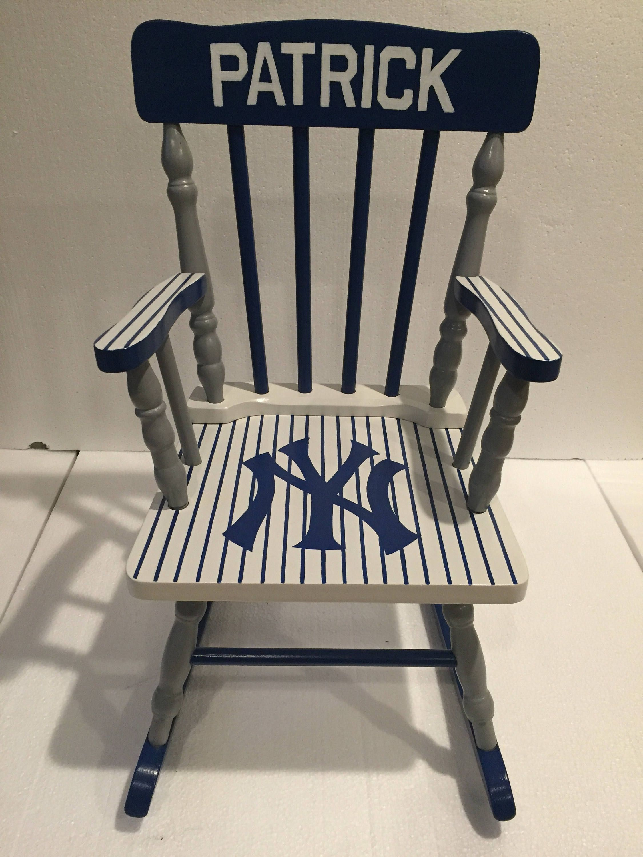 New York Yankees kids rocking chair New York yankees nursery