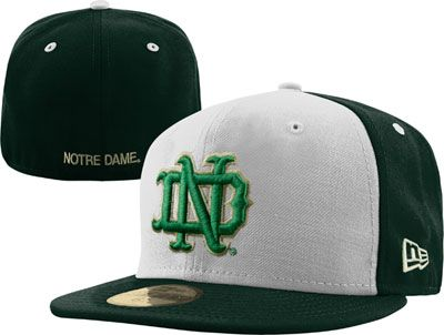 new arrival a5f86 159ea Notre Dame Fighting Irish New Era White Green Vault 59FIFTY Fitted Hat