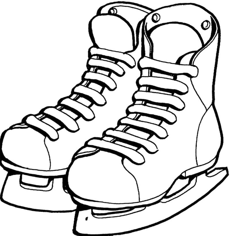 Shoes Ice Skating Coloring Page Coloring Pages Winter Coloring