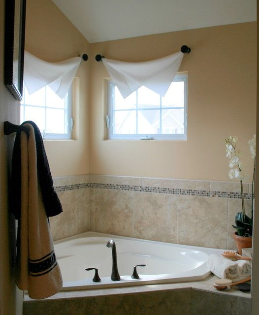 small bathroom window treatments - ideas home | window
