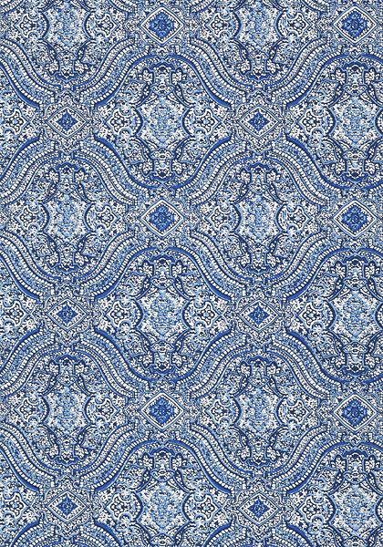 Tulsi block print wallpaper in navy from the caravan collection tulsi block print wallpaper from thibaut available to buy online here at tangletree interiors the uks largest online supplier of designer wallpaper sisterspd