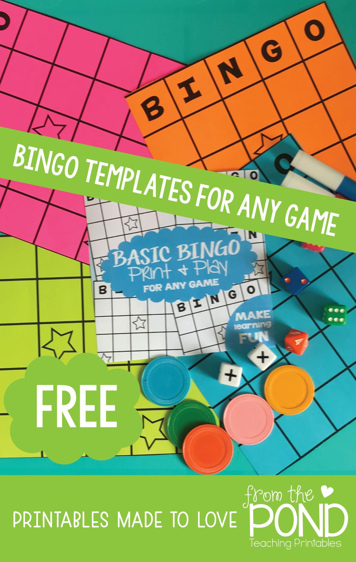 Free Printable Bingo Board Templates For Classroom Games
