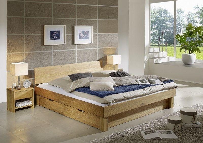 TOM Bett 160x200 mit Schubkästen #141 Wildeiche massiv geölt Jetzt - schlafzimmer bett 160x200