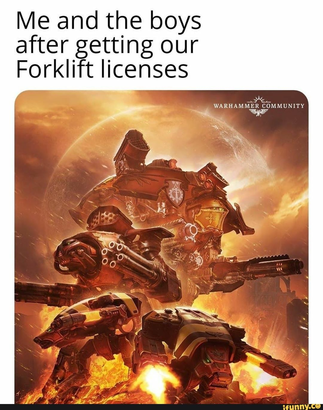 Me and the boys after getting our Forklift licenses