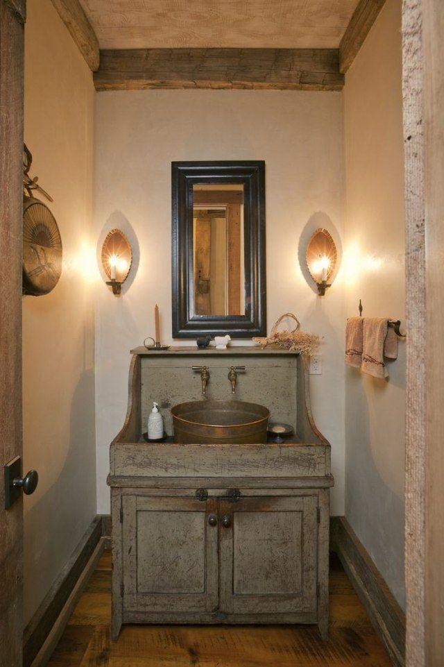 un meuble salle de bains pas cher fabriqué par une commode recyclée