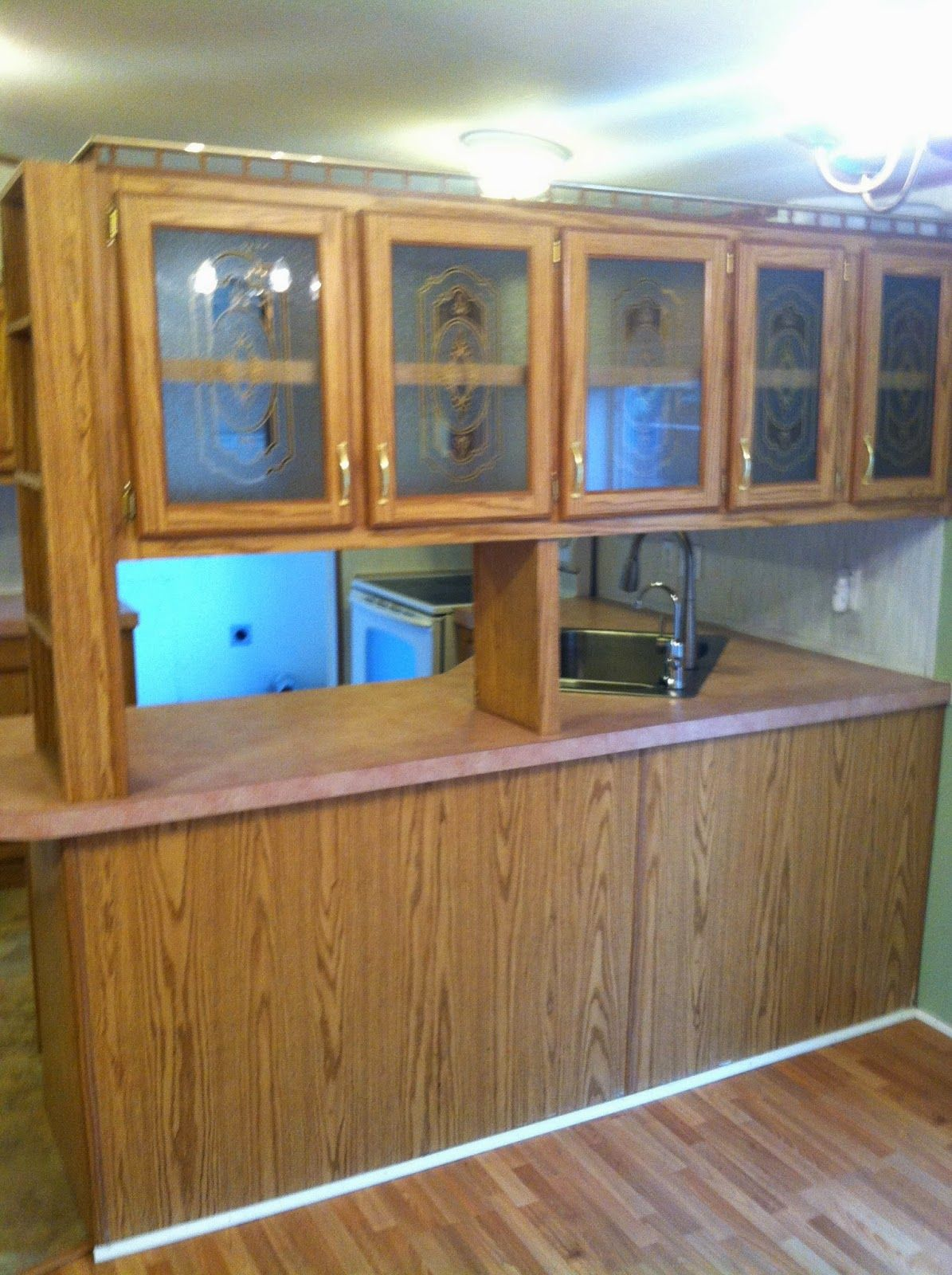 Roughly 150 Kitchen Makeover Mobile Home Painting Laminate Cabinets Laminate Cabinet Makeover Redo Cabinets