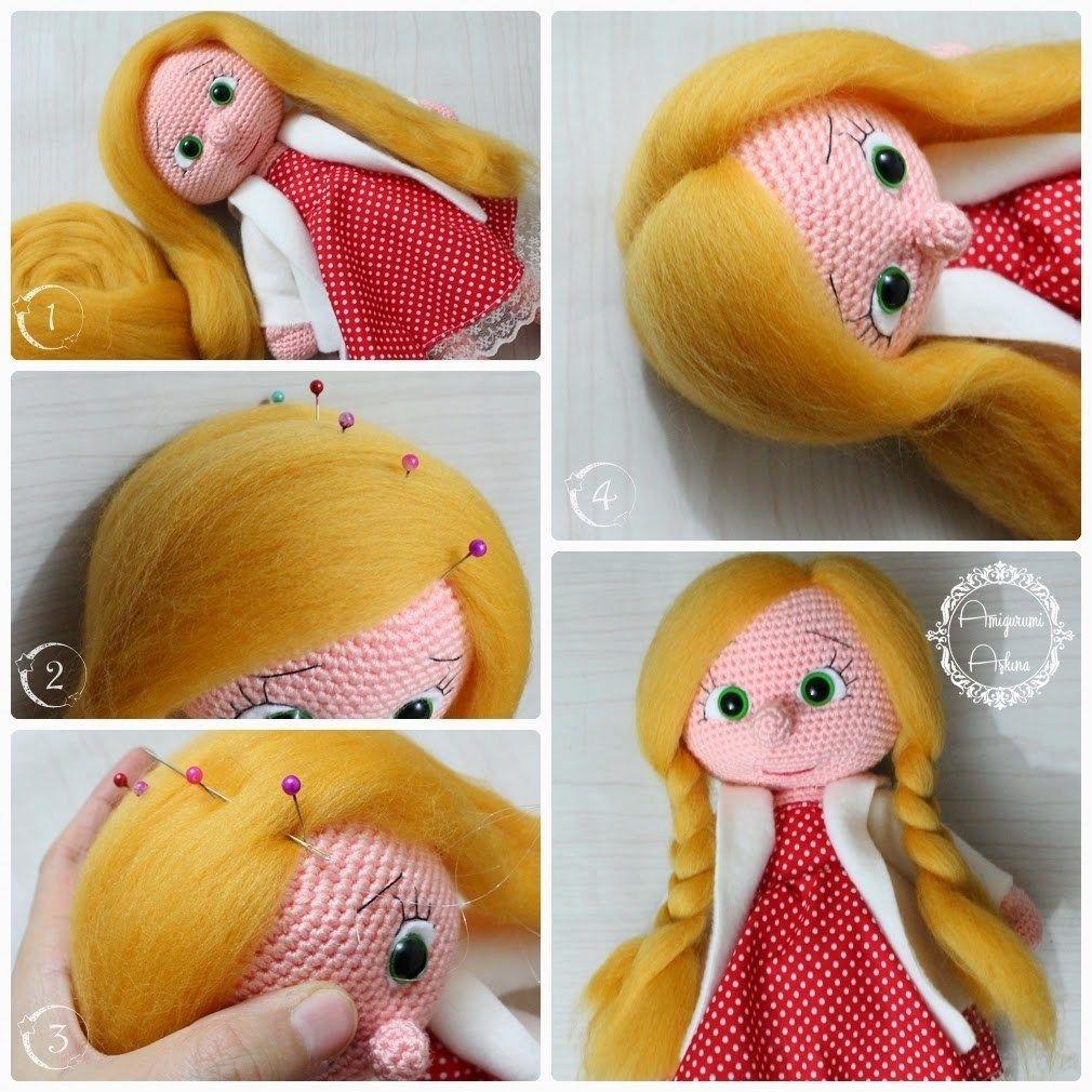 Muñeca amigurumi con trenzas | Muñeca amigurumi, Muñecas y Trenza