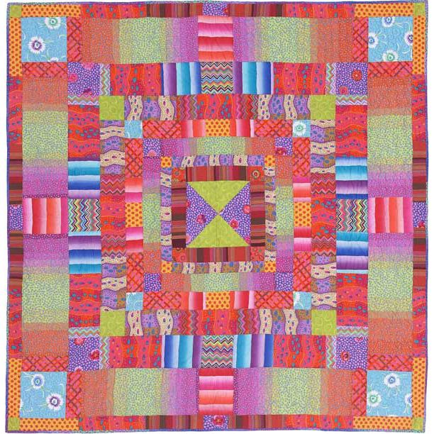 Sunset Stripes, from: Heritage Quilts by Kaffe Fassett. Kit at ... : kaffe fassett fabrics quilting - Adamdwight.com
