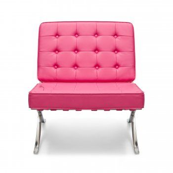 598f05e96570 Okay, this is not a REAL Barcelona chair, but is it is Pink! | Pink ...