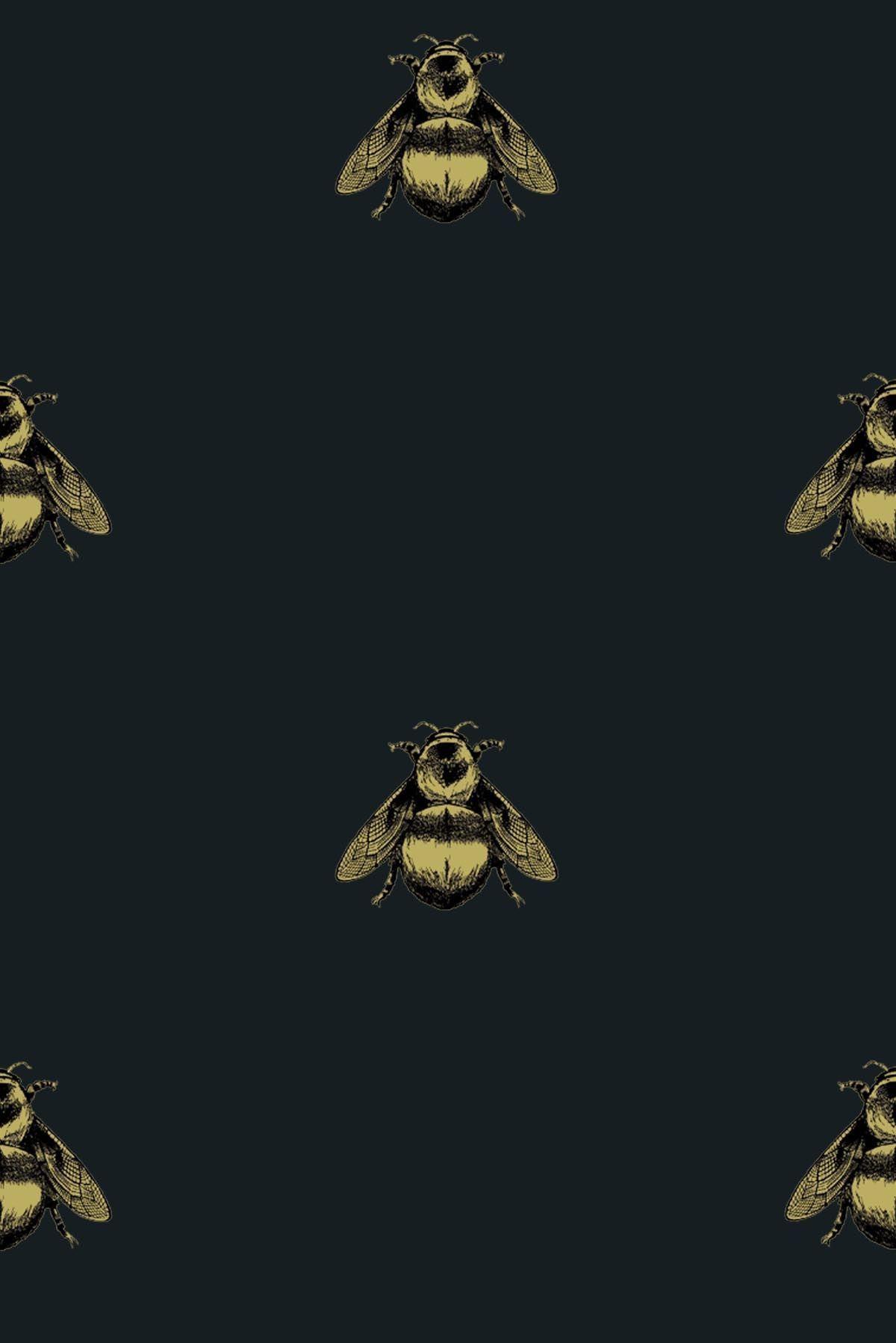 Timorous Beasties Wallcoverings Napoleon Bee Material
