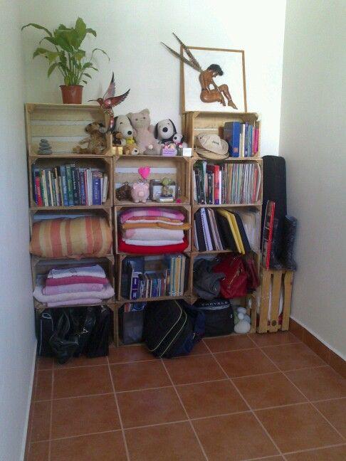 Mueble #huacales hazlo tu mismo super economico | Home | Pinterest ...