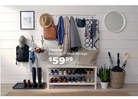 TJUSIG Bench with shoe storage $59.99 | House and Home | Pinterest ...