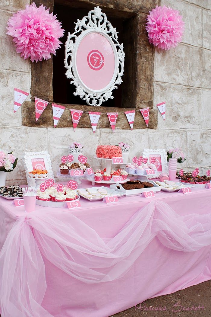 Mesa dulce pink candy bar dessert table party rosa baby for Decoracion estados unidos