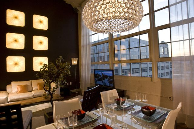 Urban Loft Residence Fort Worth TX Contemporary Dining
