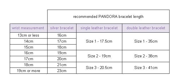 Lengths Of Pandora Bracelets