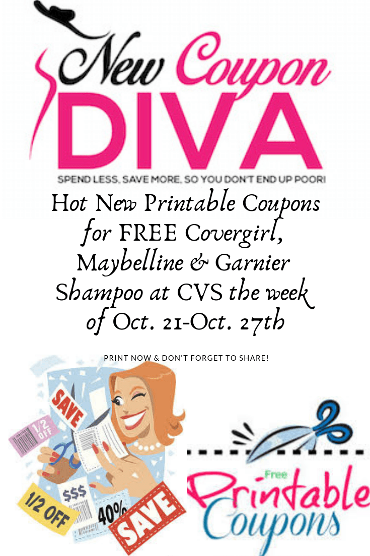 photograph regarding Covergirl Printable Coupons identify Free of charge Covergirl, Maybelline and Garnier Shampoo at CVS