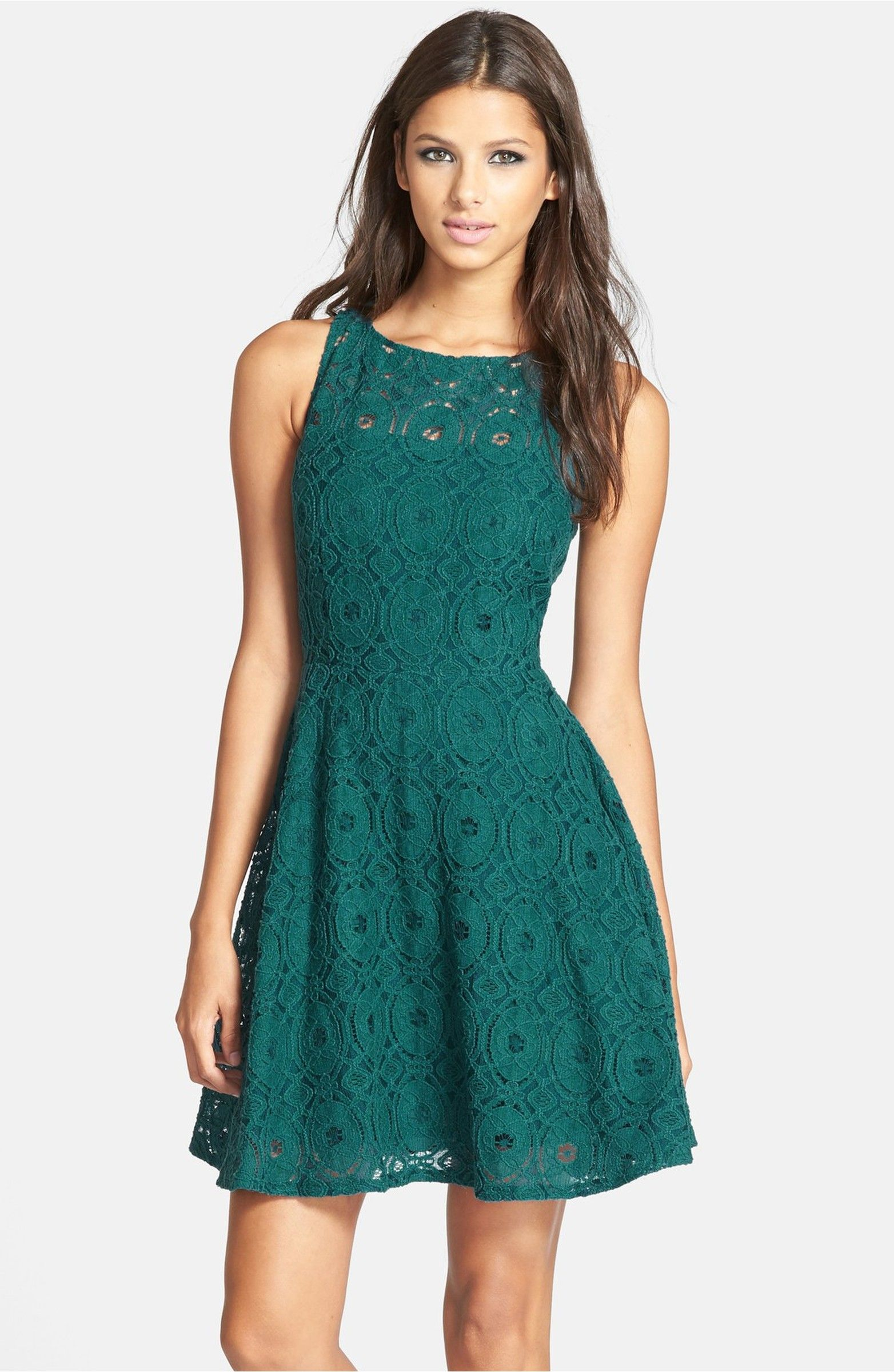 Main Image - BB Dakota \'Renley\' Lace Fit & Flare Dress (Nordstrom ...