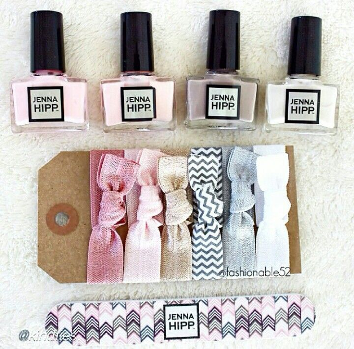 cute gift set including Jenna HIpp nail polishes and lovely hair ...