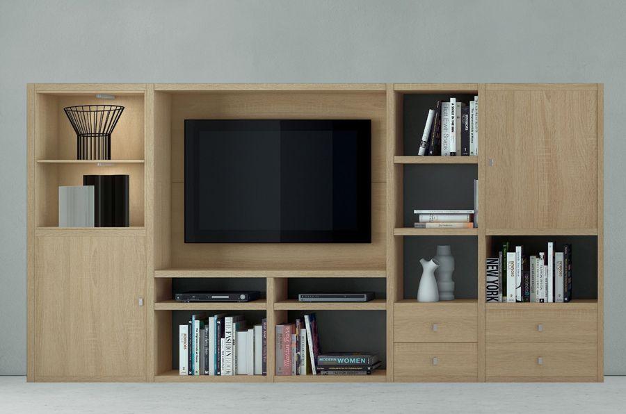 Wohnwand TV-Kombination TOLEO238 Eiche Sonoma Jetzt bestellen unter