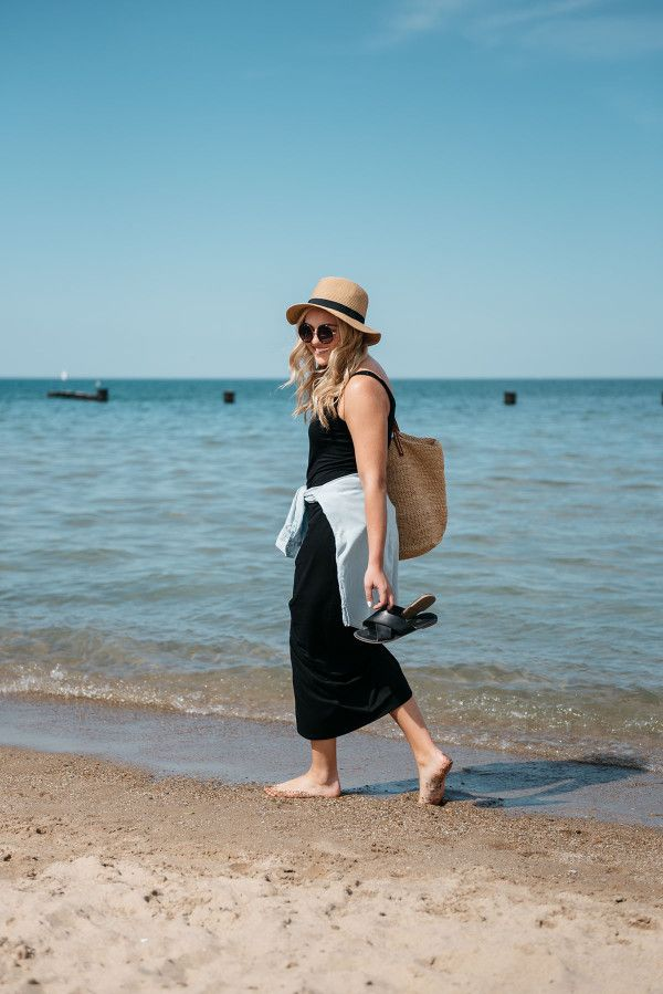 At the Beach // @bowsandsequins