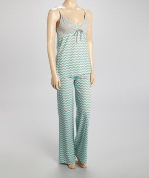 58299b577 Look what I found on  zulily! Pillow fight Turquoise Zigzag Pajama ...