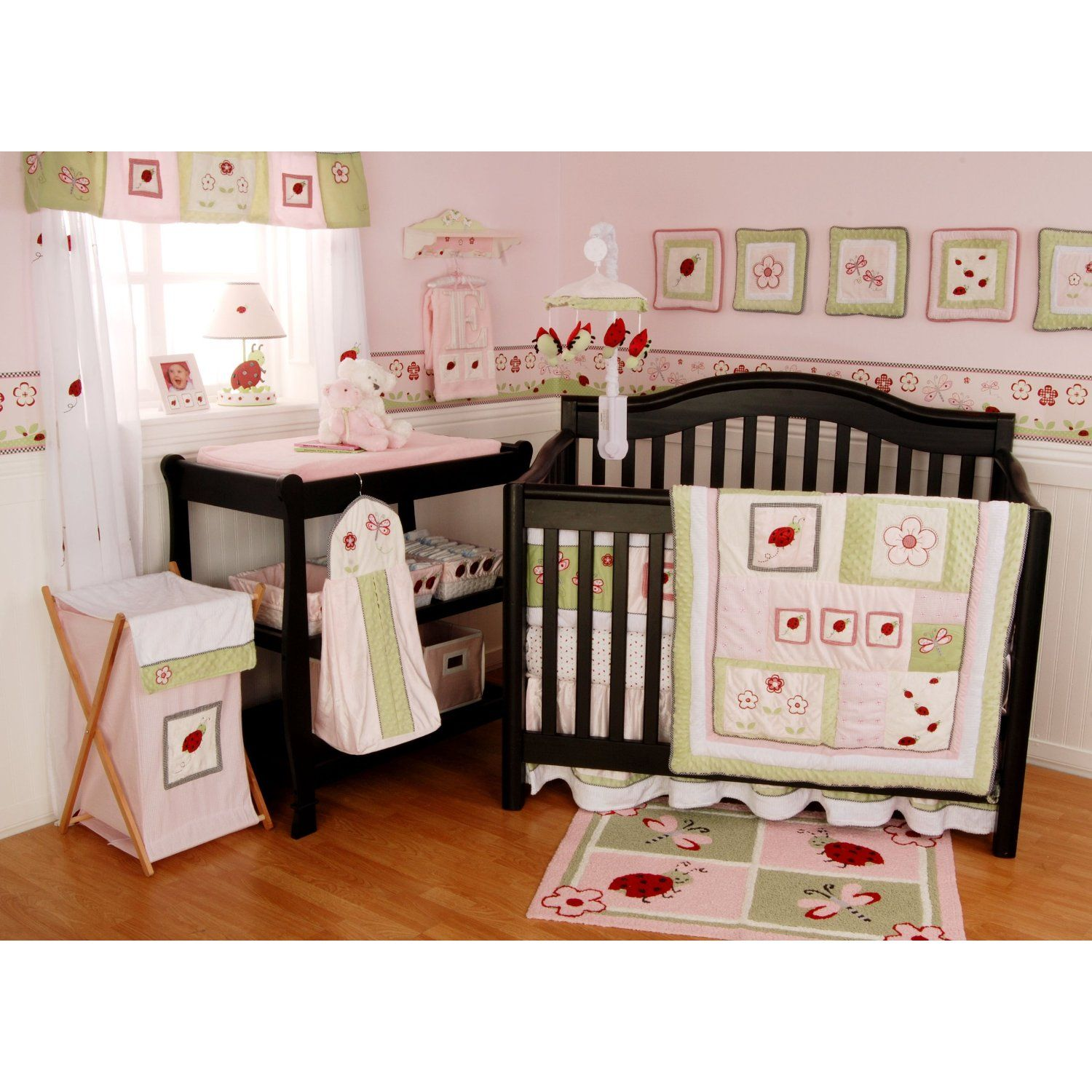 Baby Girl Nursery Themes Ladybugs With Images Crib Bedding Girl Girl Crib Bedding Sets Baby Crib Sets