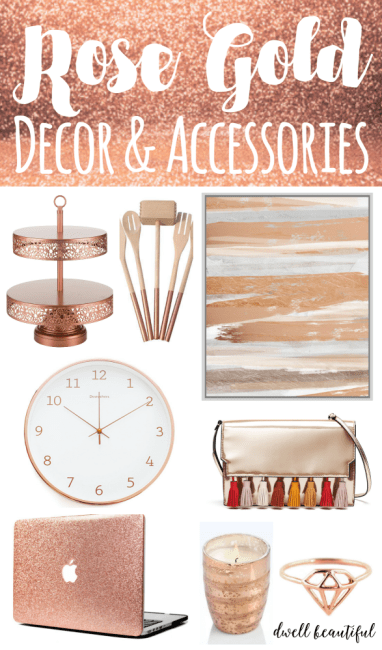 Design Trend Stylish Rose Gold Home Decor And Accessories Rose