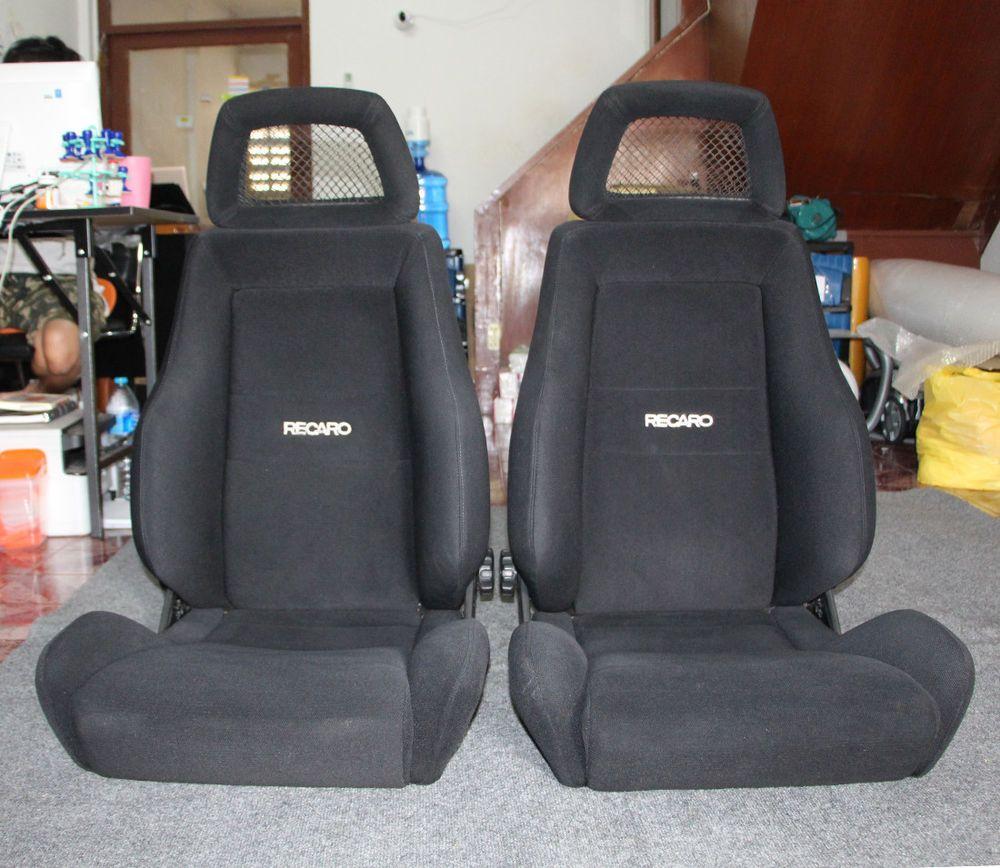 2 Jdm RECARO LX SEATS NET HEADREST RACING PORCHE EG EK BMW