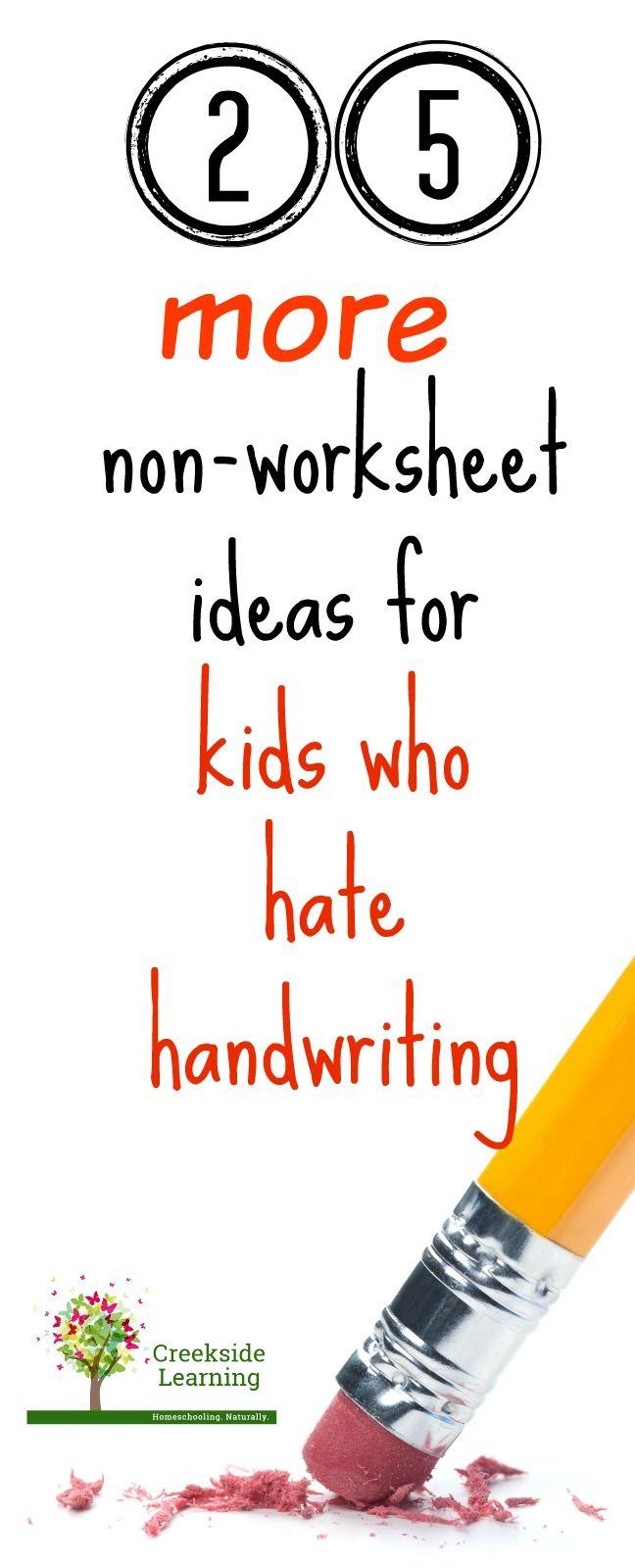 25 MORE Fun Handwriting Practice Ideas - No Worksheets | Pinterest ...