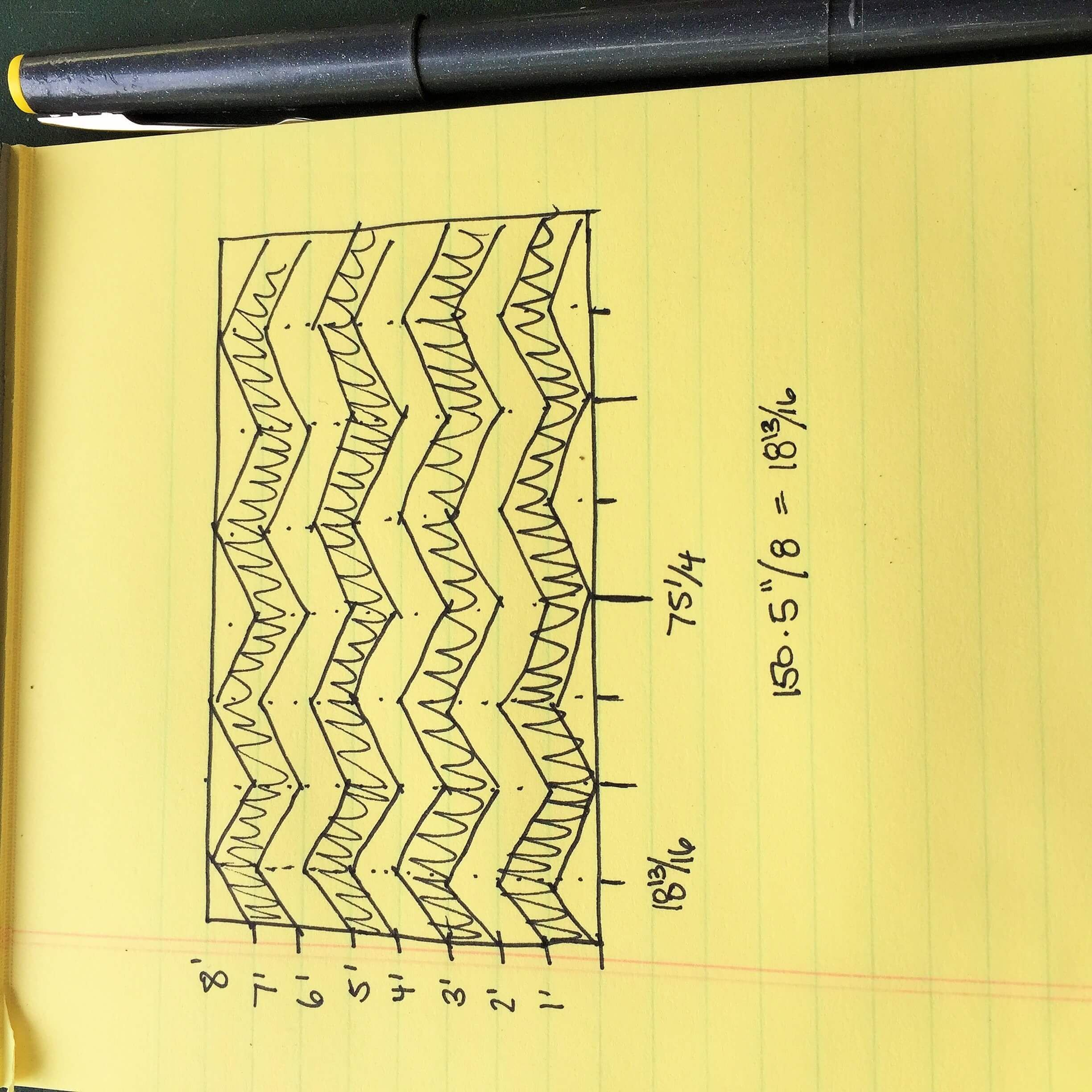 How To Measure For A Chevron Wall Design 3 Chevron Paint