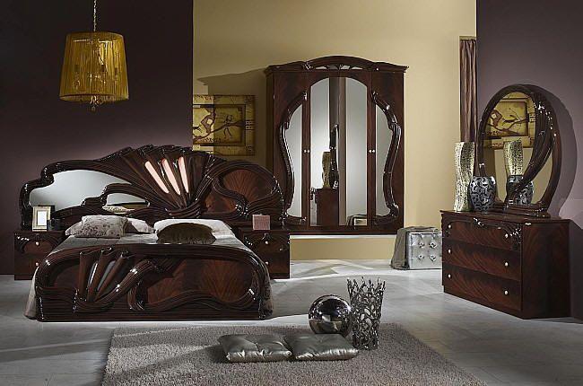 Furniture Mahogany Gloss Bedroom From Italy