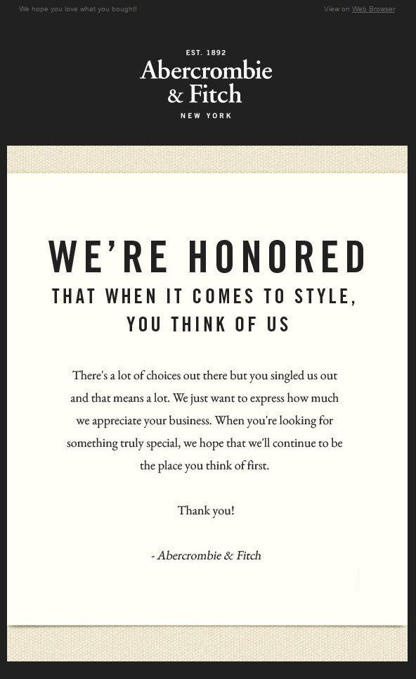 Image result for thank you for purchase email Email Marketing
