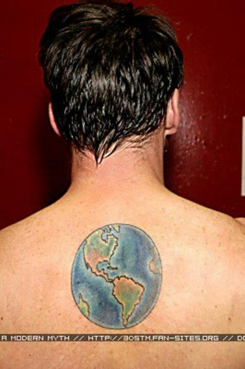 30 Seconds To Mars Map Of The World.On His Back Is A Map Of The World Mars Stuff Pinterest