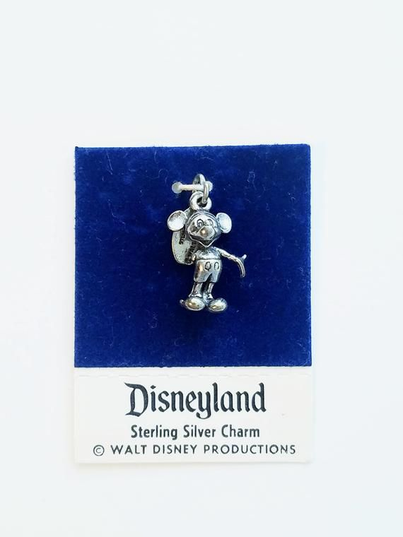 Mickey Mouse Sterling Silver Vintage Charm Disneyland from the 1970's Jewelry Souvenir #disneylandfood
