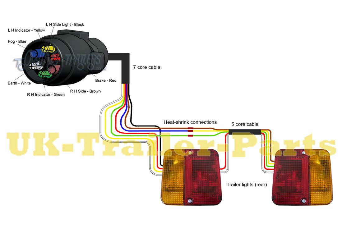 wiring diagram for a 7 pin trailer plug  Google Search