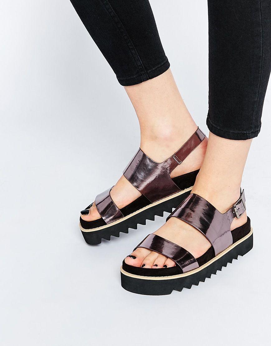 asos fable sandales semelle plateforme plate shoes. Black Bedroom Furniture Sets. Home Design Ideas